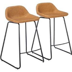 Cortesi Home Stool Leather Seat