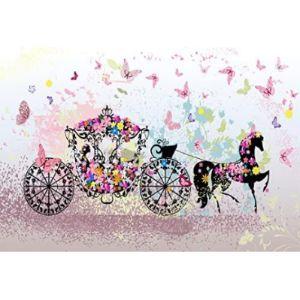 Laeacco Baby Carriage Cartoon