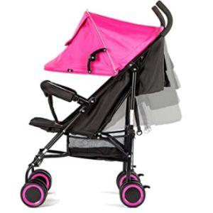 Evezo Pink Lightweight Stroller