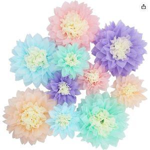 Mybbshower Centerpiece Tissue Paper Flower