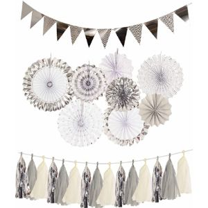 Visit The Meant2Tobe Store Silver Tassel Garland