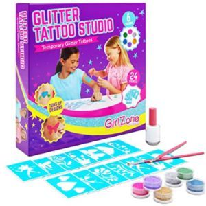 Girlzone Glitter Temporary Tattoo Party Kit