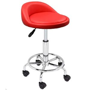 Four Clover Red Stool Chair