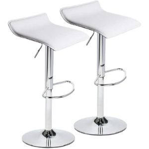 Visit The Puluomis Store White Swivel Stool