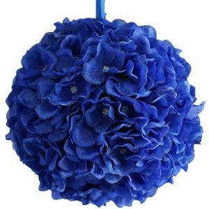 Balsacircle Kissing Balls Royal Blue Flower Ball