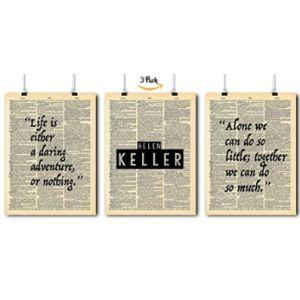 Local Vintage Prints Helen Keller Famous Quote