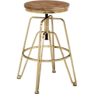 Linon Adjustable Metal Stool