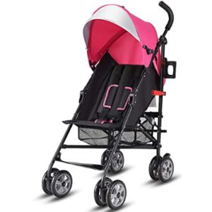 Baby Joy Pink Lightweight Stroller