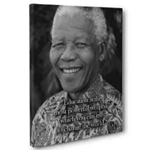 Paper Blast Nelson Mandela Education Quote