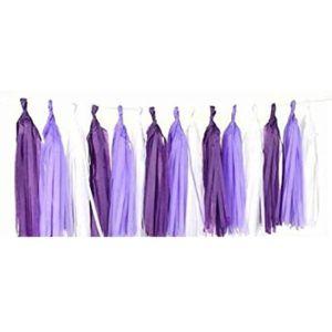 Mrmsli Purple Tassel Garland