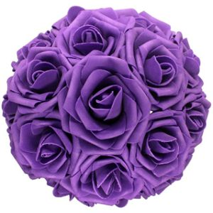 Anparty Purple Name Ball Flower