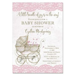 Party Pop Invites Baby Carriage Shower Invitation