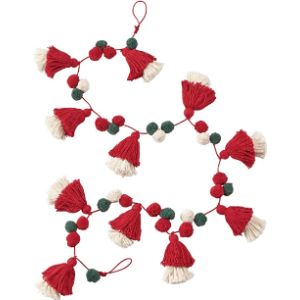 Mud Pie Christmas Tassel Garland