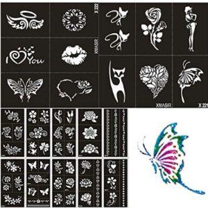 Xmasir Chest Tattoo Stencil