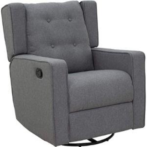 Homcom Swivel Chair Footstool