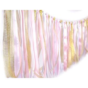 Visit The Zooyoo Store Pink Gold Tassel Garland