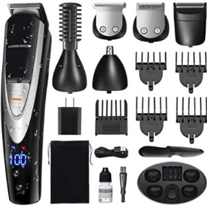 Migicshow Mens Rechargeable Beard Trimmer