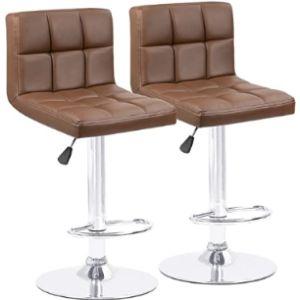Homall Stool Leather Seat