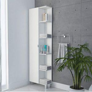 Tuhome Corner Bathroom Towel Cabinet