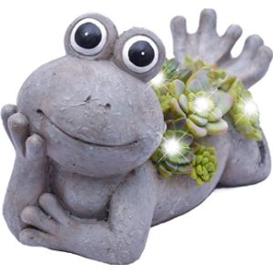 Teresas Collections Lady Flower Frog