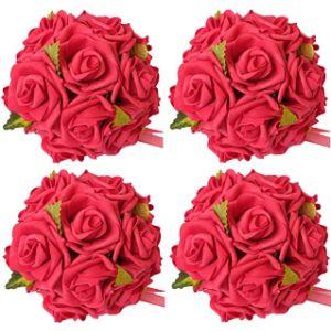 Idyllic Red Flower Ball