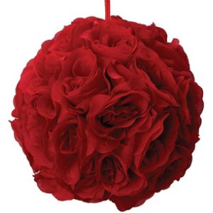 Tcdesignerproducts Red Flower Ball