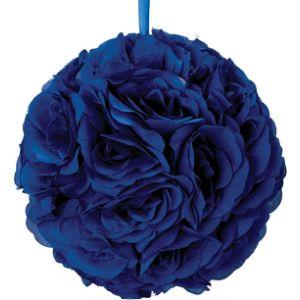 Tcdesignerproducts Royal Blue Flower Ball