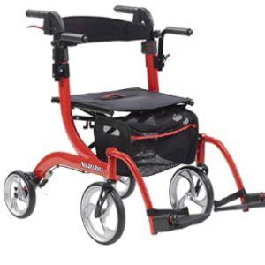 Drive Medical Rolling Walker Transport Chair