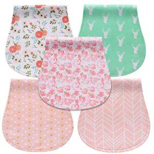 Cherub Pattern Flannel Burp Cloth