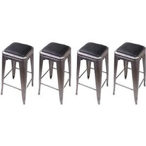 Gia Stool Leather Seat