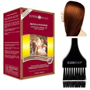 Suryabrasil Ash Dye Brown Henna Hair
