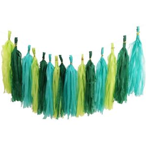 Full Win Green Tassel Garland