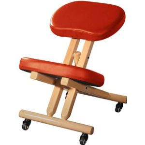 Master Massage Wood Rolling Chair