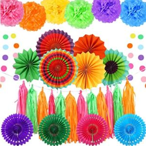 Auihiay Tissue Paper Fringe Garland