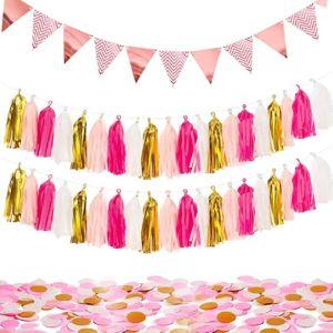 Merrynine Pink Gold Tassel Garland