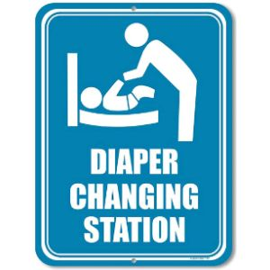 Honey Dew Gifts Baby Changing Station Sign