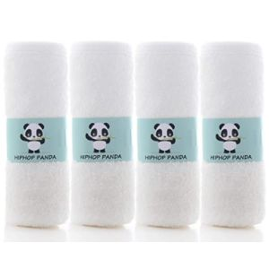 Hiphop Panda Burp Cloth White