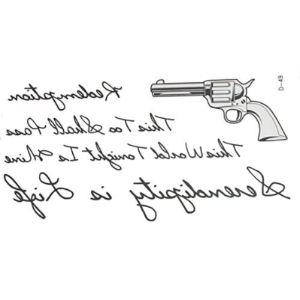 Treading Tattoo Gun Stencil