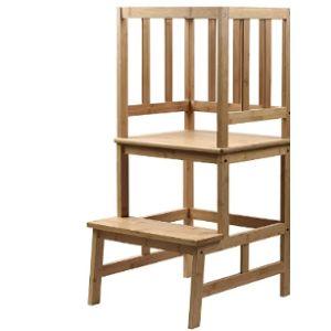 Sunyao Wood Step Stool Ladder Chair