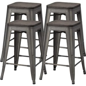 Yaheetech Metal Stool Chair