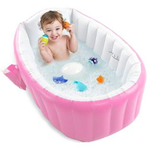 Pawsky Large Toddler Inflatable Bathtub