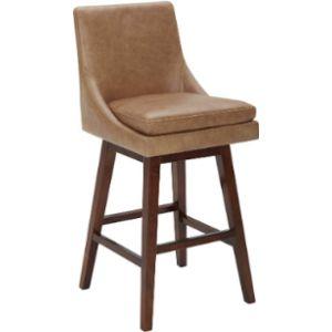 Stone Beam Stool Leather Seat