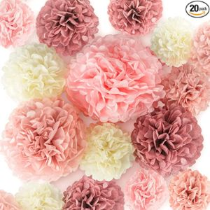 Epiqueone Tissue Paper Flower Decoration