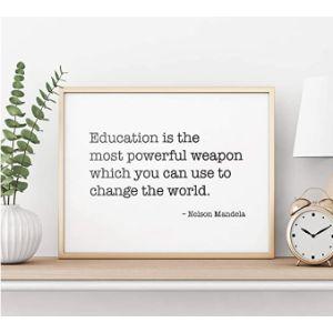 Dozili Nelson Mandela Education Quote
