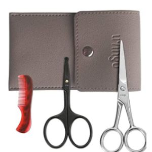 Livingo Mustache Scissors Comb Set