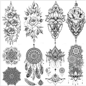 Vantaty Henna Tattoo Sticker
