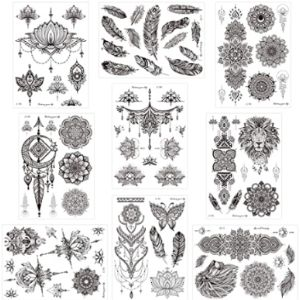 Konsait Lotus Flower Henna Tattoo