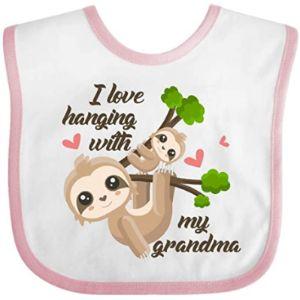 Inktastic Grandma Baby Bib