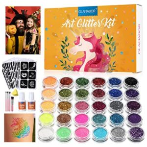 Luckyfine Glitter Temporary Tattoo Party Kit