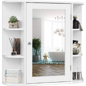 Tangkula Bath Cabinet Mirror